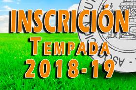 Inscripción Temporada 2018-19